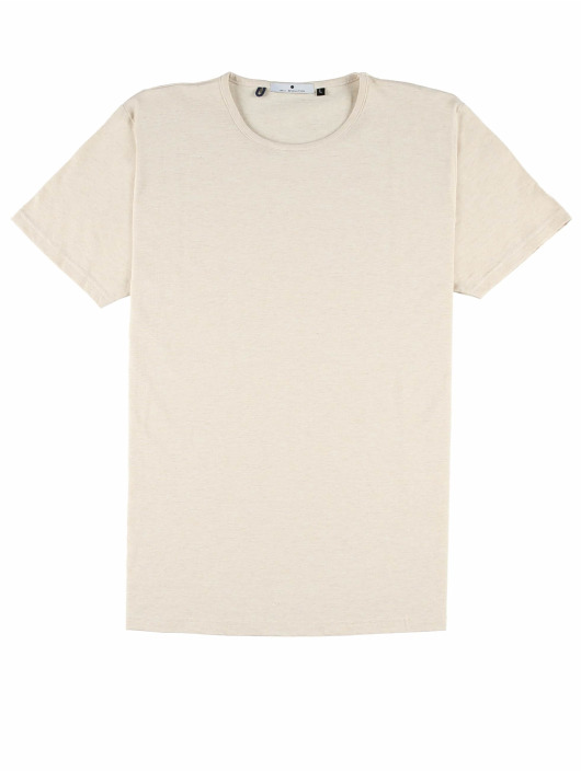Revolution T-Shirty Round Neck bezowy