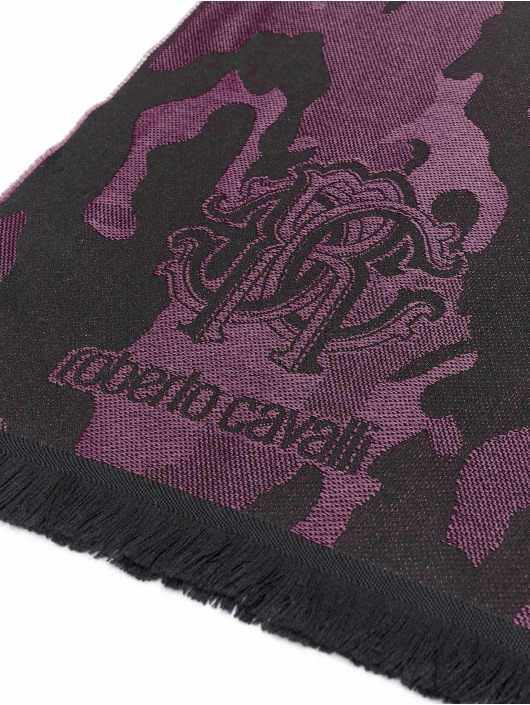 Roberto Cavalli Шарф / платок Camo черный