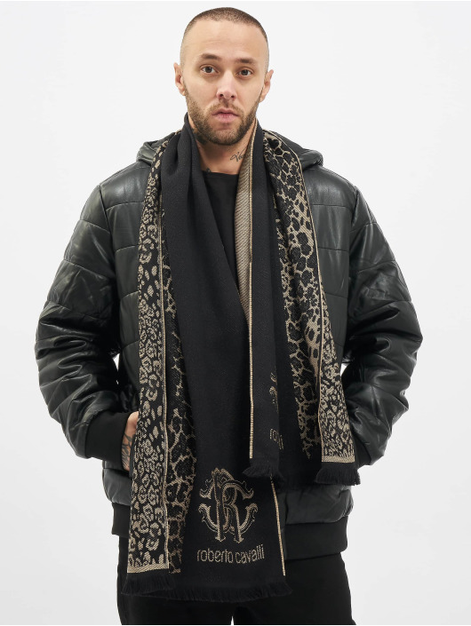 Roberto Cavalli Schal 2 Tone schwarz