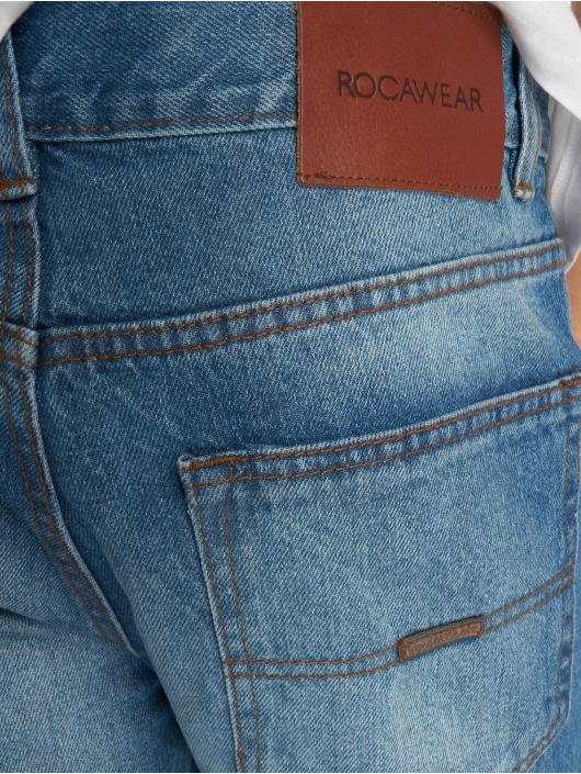 Moletro Leather 476471 Homme Rocawear Jean Droite Bleu Patch Coupe 6dRRxf8