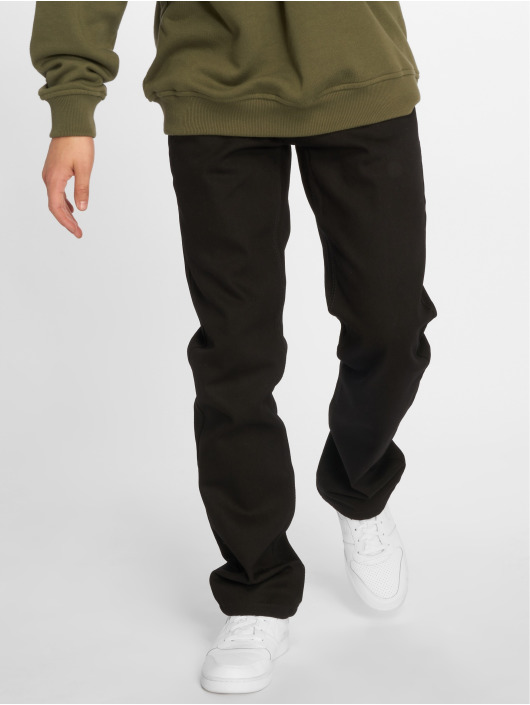 Rocawear Straight Fit Jeans Moletro Leather Patch black