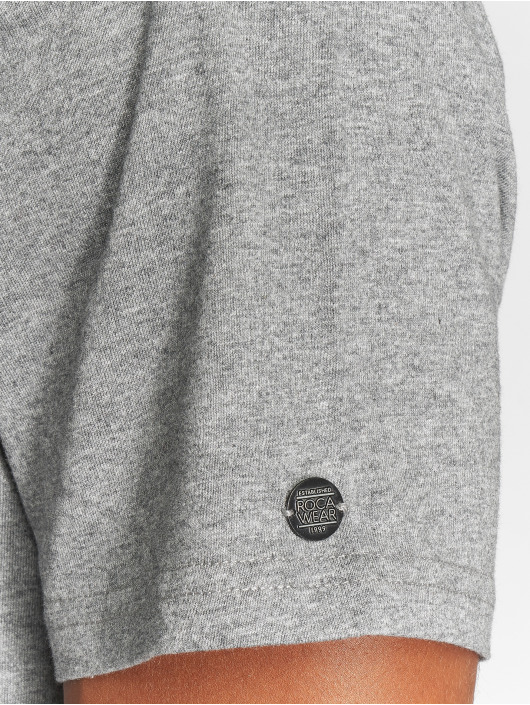 Rocawear T-Shirt Velvet Logo grau