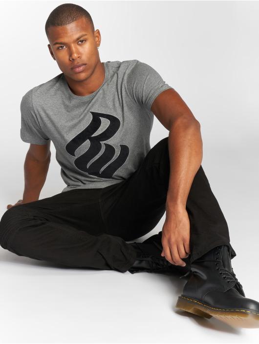 Rocawear T-Shirty Velvet Logo szary