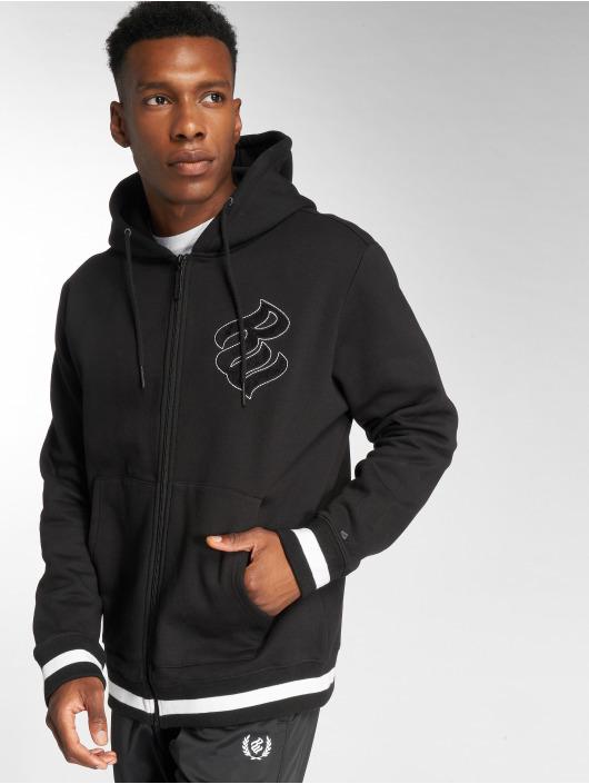Rocawear Zip Hoodie Logo schwarz