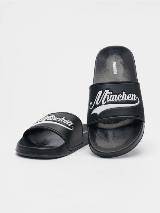 Schlappos Sandaalit München City musta
