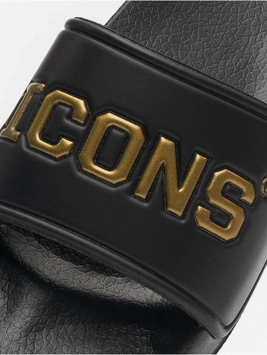 Schlappos Sandalen Icons schwarz