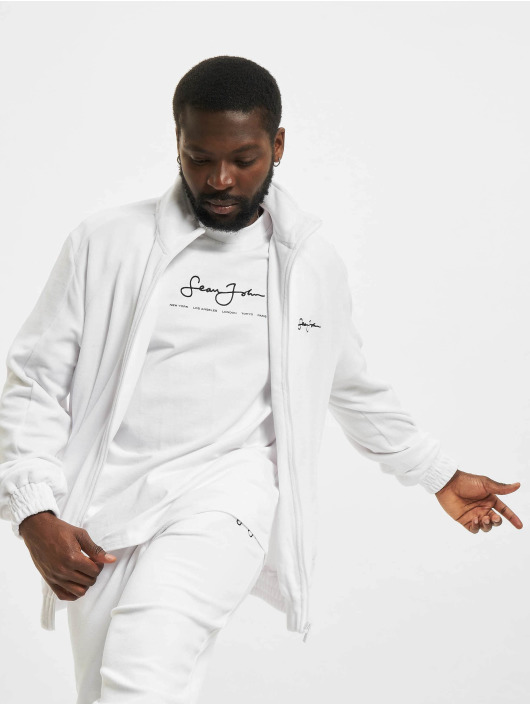Sean John Демисезонная куртка Classic Logo Essential Velours белый