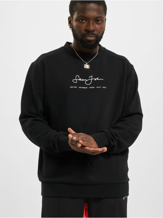 Sean John Пуловер Classic Logo Essential черный