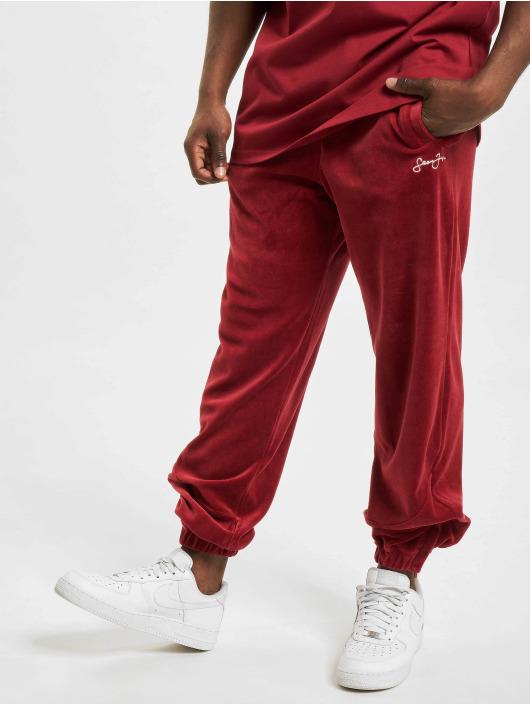 Sean John Jogging Classic Logo Essential Velours rouge