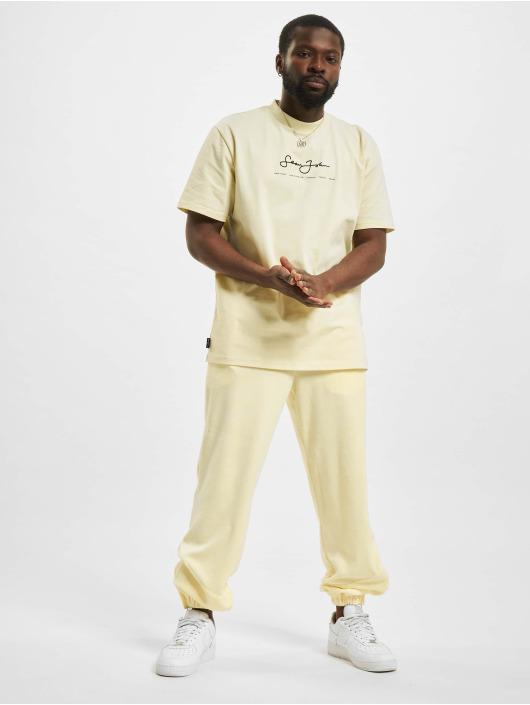 Sean John Jogginghose Classic Logo Essential Velours beige