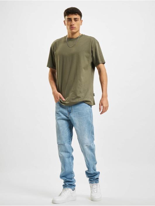 Sean John Straight Fit Jeans Classic Logo blau