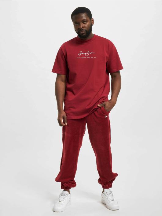 Sean John Sweat Pant Classic Logo Essential Velours red