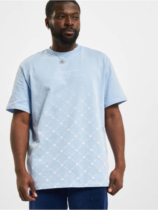 Sean John T-Shirt Classic Logo Aop Gradient bleu