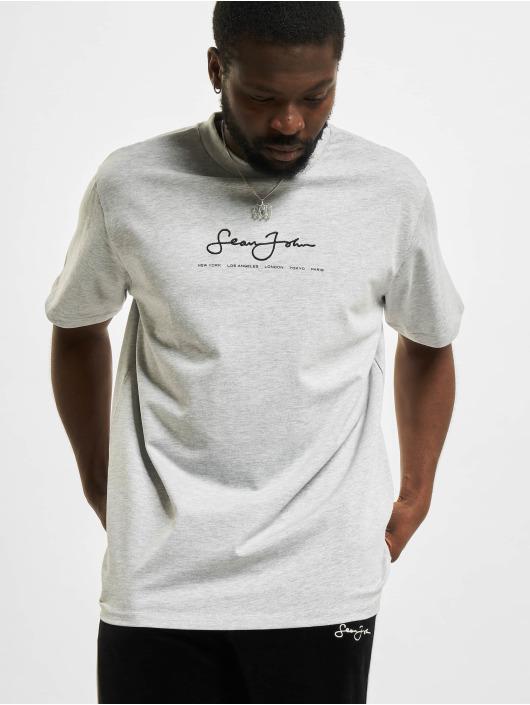 Sean John T-Shirt Classic Logo Essential gris