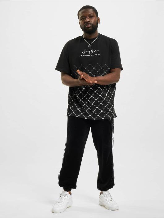 Sean John T-Shirt Classic Logo Aop Gradient schwarz