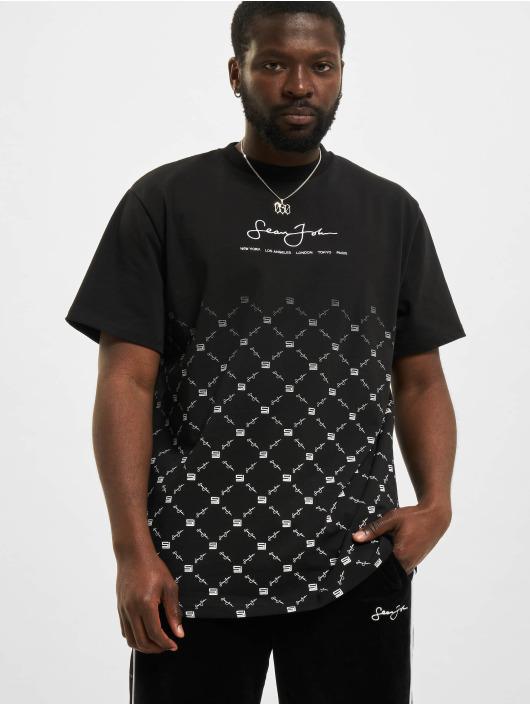 Sean John t-shirt Classic Logo Aop Gradient zwart