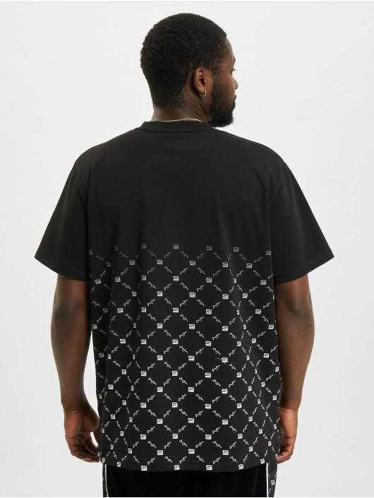 Sean John T-skjorter Classic Logo Aop Gradient svart