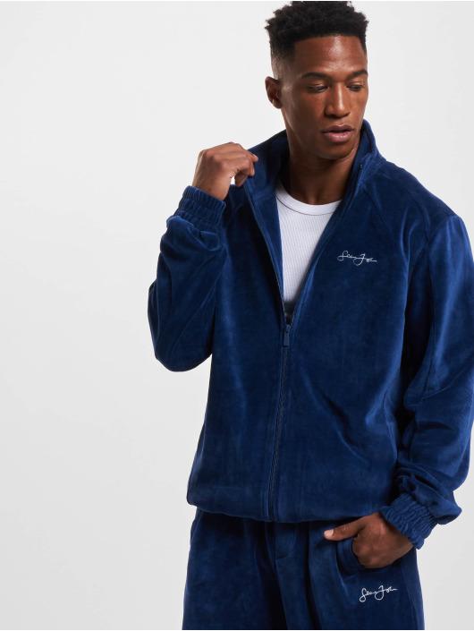 Sean John Übergangsjacke Classic Logo Essential Velours blau