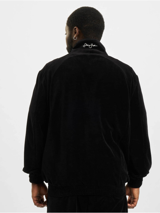 Sean John Übergangsjacke Classic Logo Essential Velours schwarz