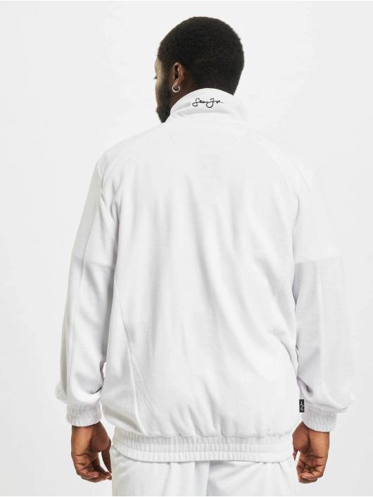 Sean John Veste mi-saison légère Classic Logo Essential Velours blanc