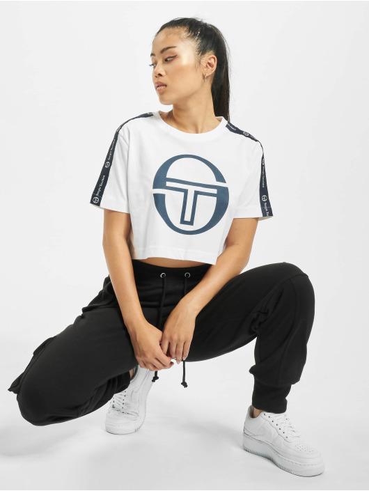 Sergio Tacchini Camiseta Romina Cropped Logo Tape blanco