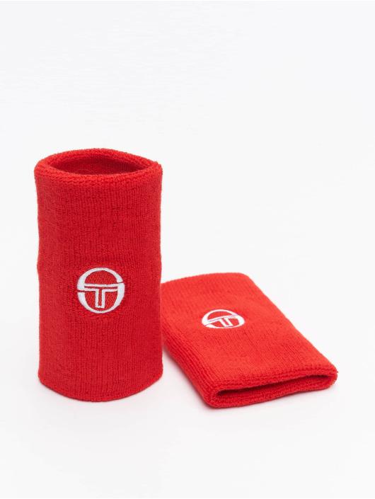 Sergio Tacchini Pozostałe Tennis Wristband 2 Pack czerwony