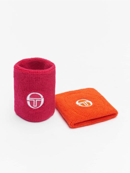 Sergio Tacchini Pozostałe Tennis Wristband 2 Pack pomaranczowy