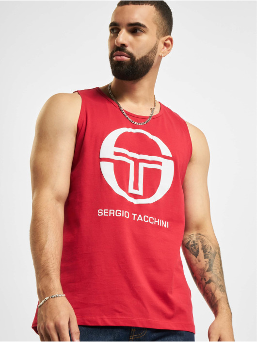 Sergio Tacchini Tank Tops Funes red