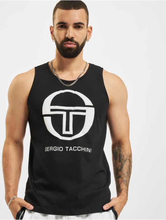 Sergio Tacchini Tank Tops Funes schwarz