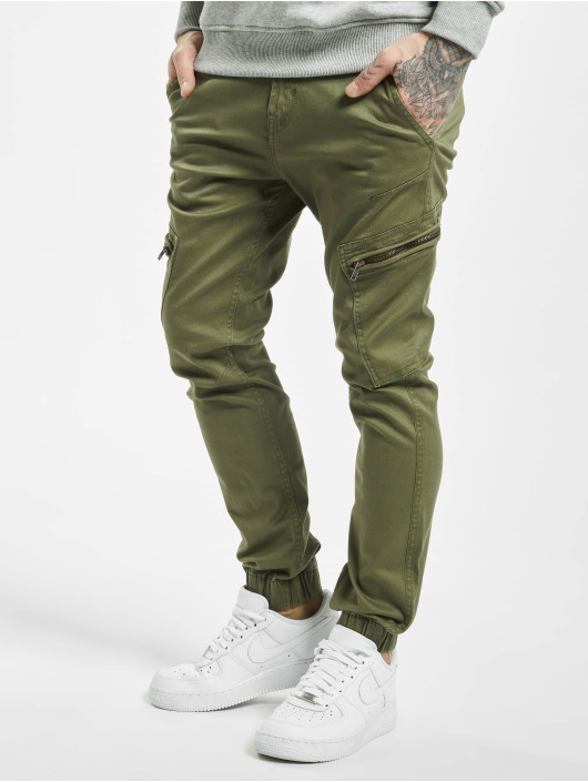 SHINE Original Cargo pants Curved Leg olive