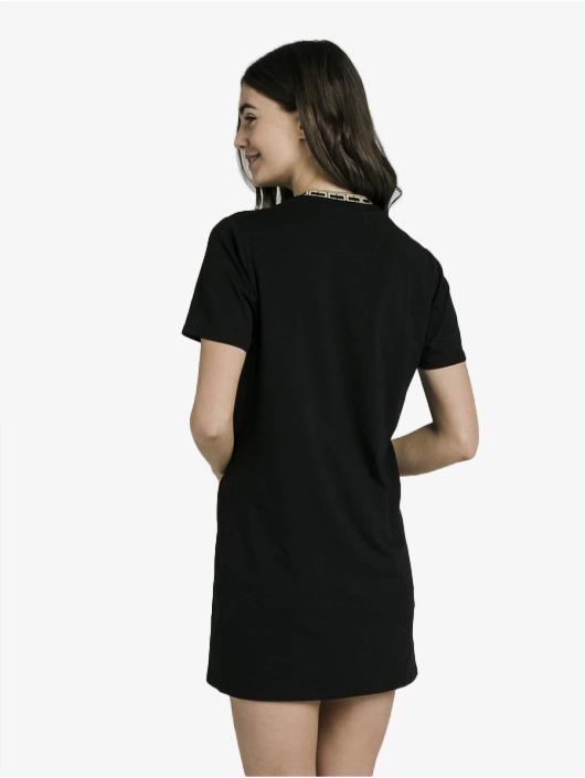 Sik Silk Šaty Tape Collar èierna