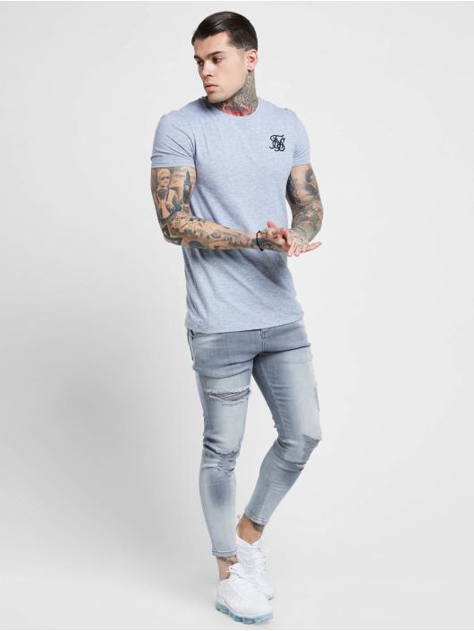 Sik Silk Облегающие джинсы Distressed серый
