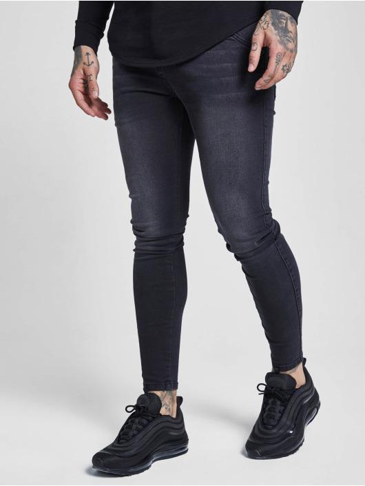 Sik Silk Облегающие джинсы Skinny черный