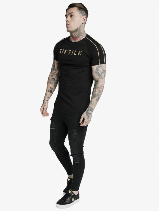 Sik Silk Футболка S/S Astro Raglan Gym черный