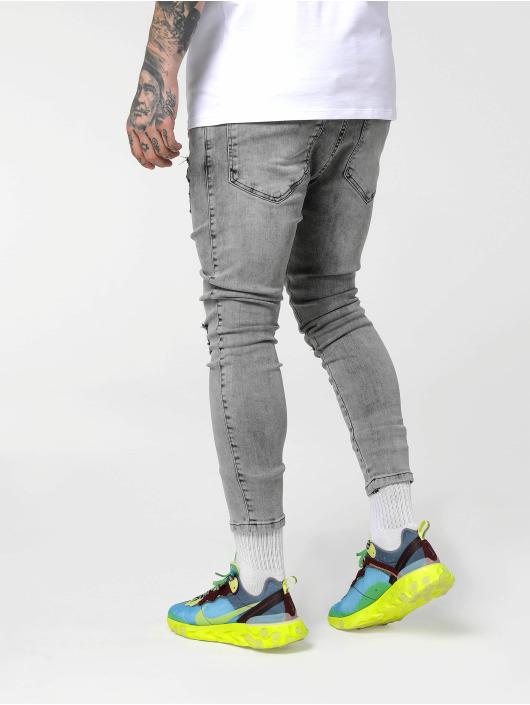 Sik Silk Antifit jeans Drop Crotch Ultra Skinny blå