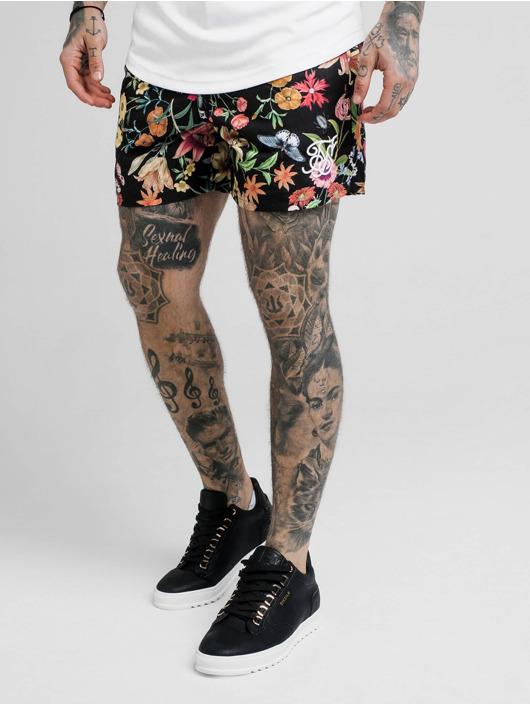 Sik Silk Badeshorts Secret Garden Standard schwarz