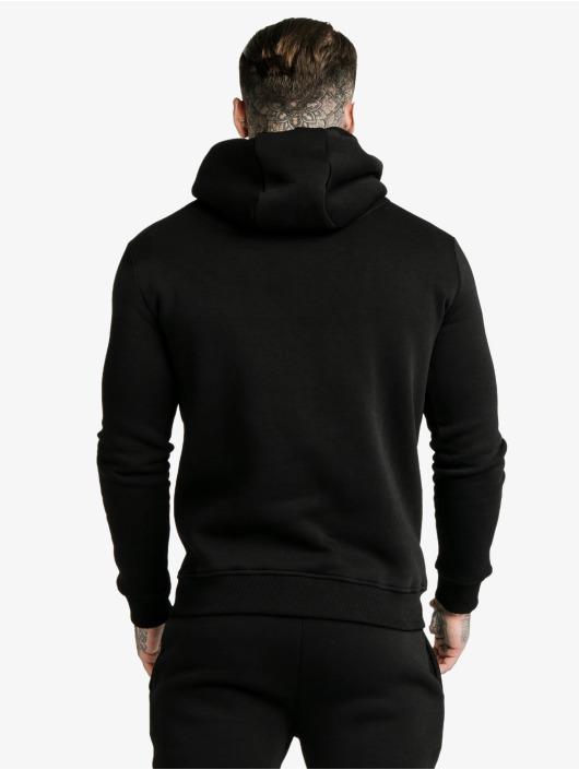 Sik Silk Bluzy z kapturem Muscle Fit Overhead czarny