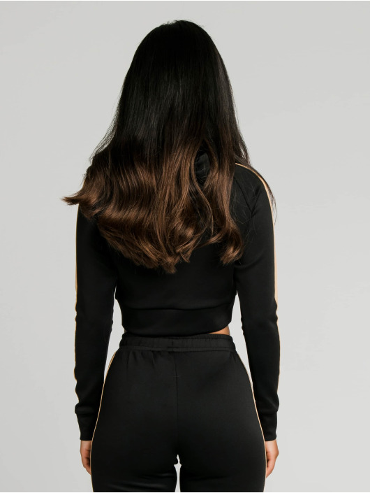 Sik Silk Bluzy z kapturem Satin Panel czarny