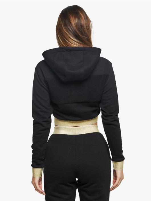 Sik Silk Bluzy z kapturem Reverse Weave Cropped czarny