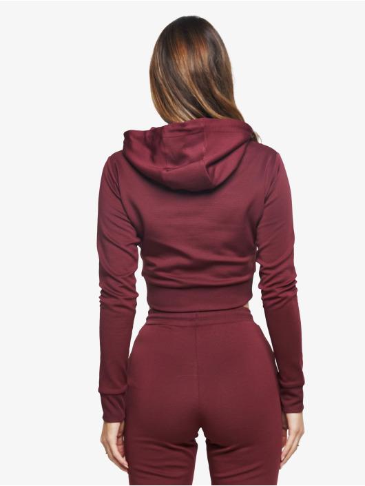 Sik Silk Bluzy z kapturem Eyelet Mesh czerwony