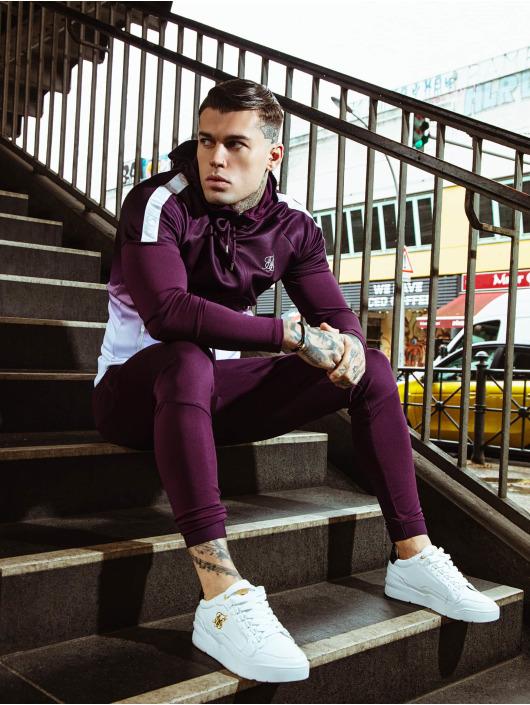 Sik Silk Bluzy z kapturem Vapour Hybrid Sleeve Tape fioletowy