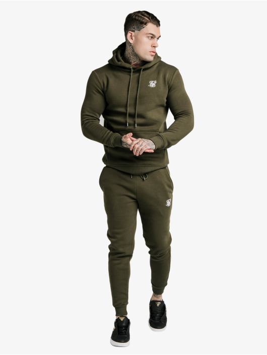 Sik Silk Bluzy z kapturem Muscle Fit Overhead khaki