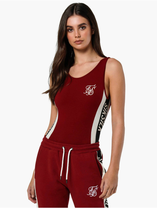 Sik Silk Bodystocking Backless rød