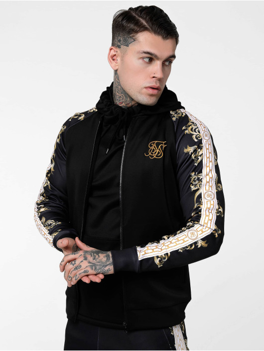 Sik Silk Bomber jacket Polytricot black
