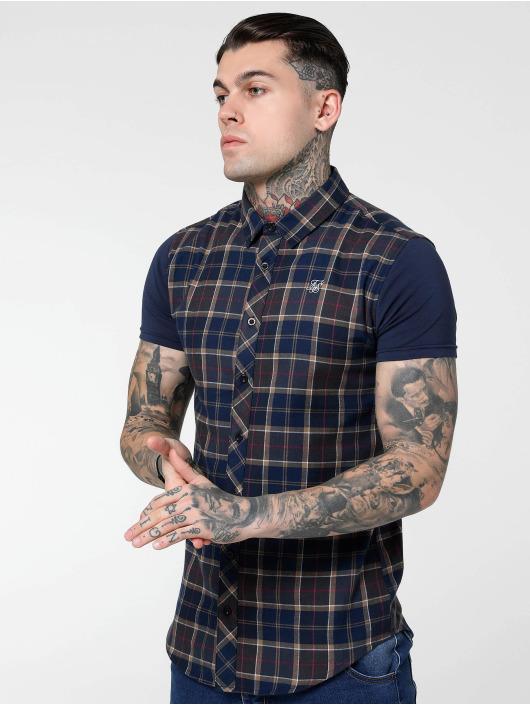 Sik Silk Camicia Flannel Standard blu