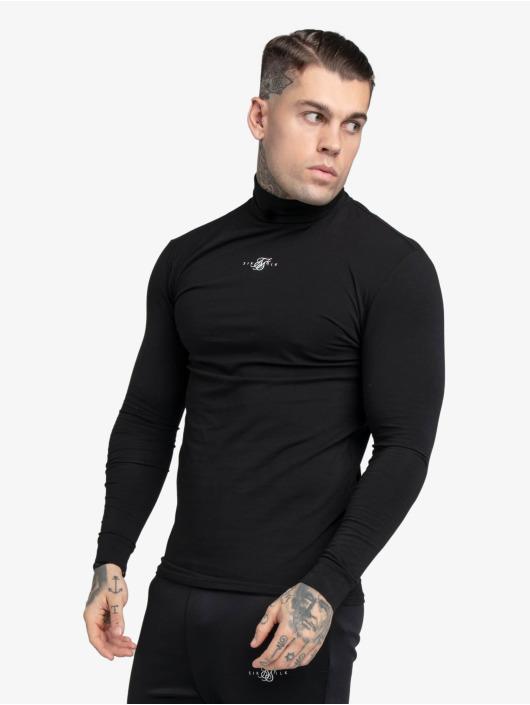 Sik Silk Camiseta de manga larga Tranquil Turtle Neck negro