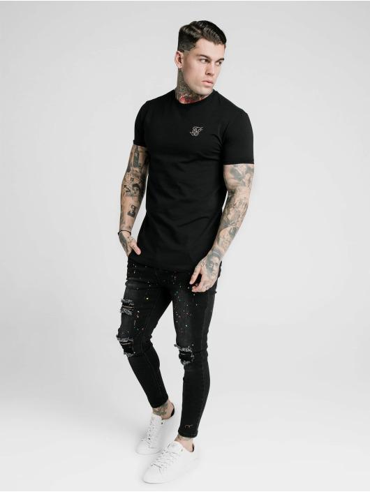 Sik Silk Camiseta Straight Hem Gym negro
