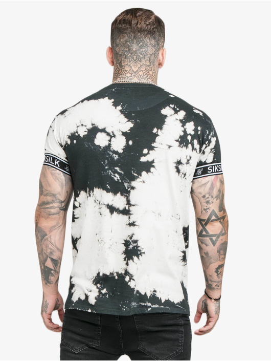 Sik Silk Camiseta Tie Dye Cuff negro