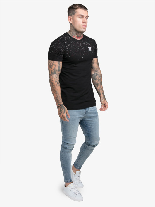 Sik Silk Camiseta Speckle Gym negro