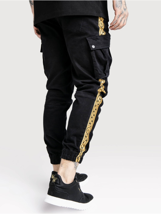 Sik Silk Cargo pants Liam čern